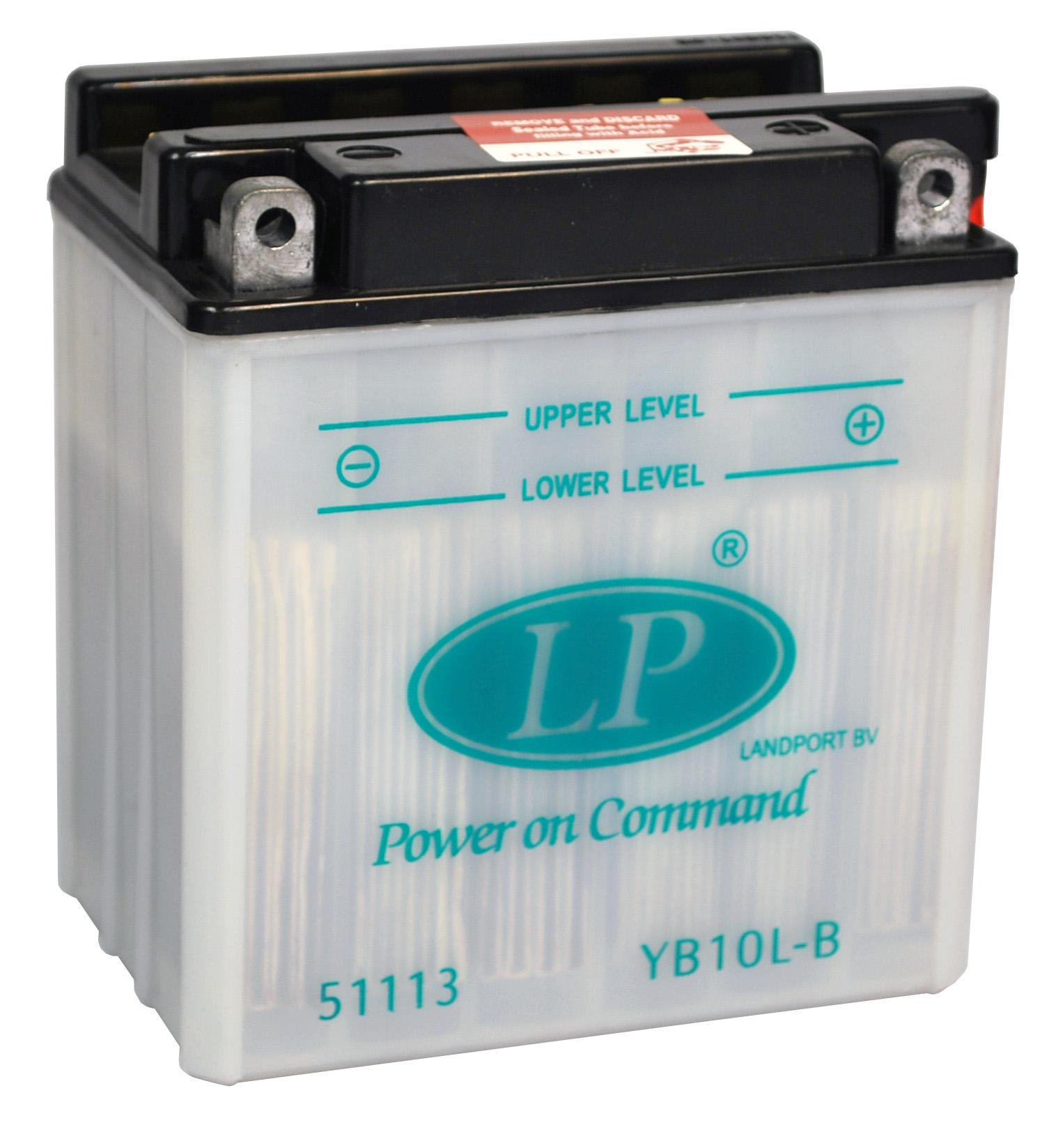YB10L-B motor accu met zuurpakket
