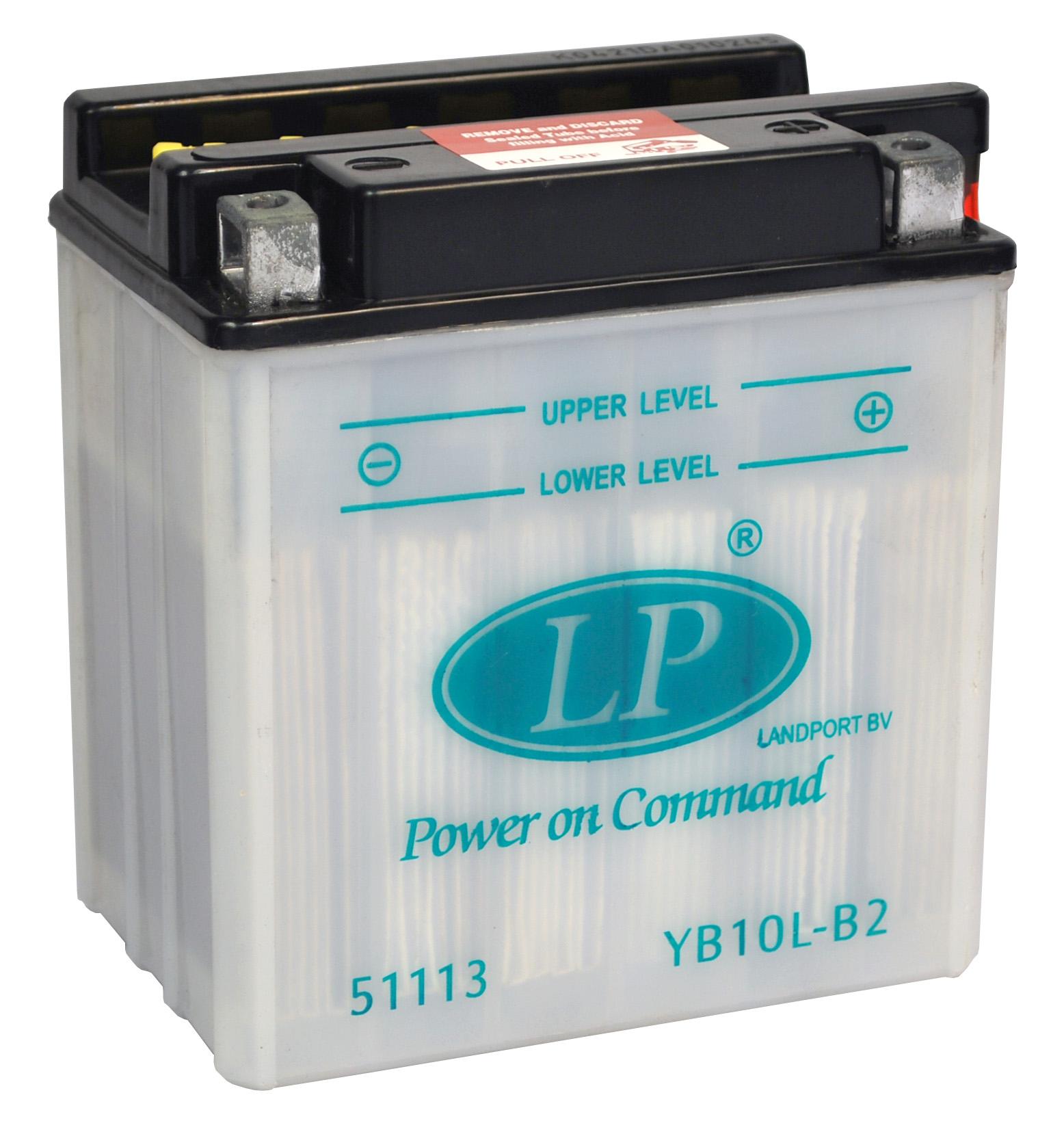 YB10L-B2 motor accu met zuurpakket