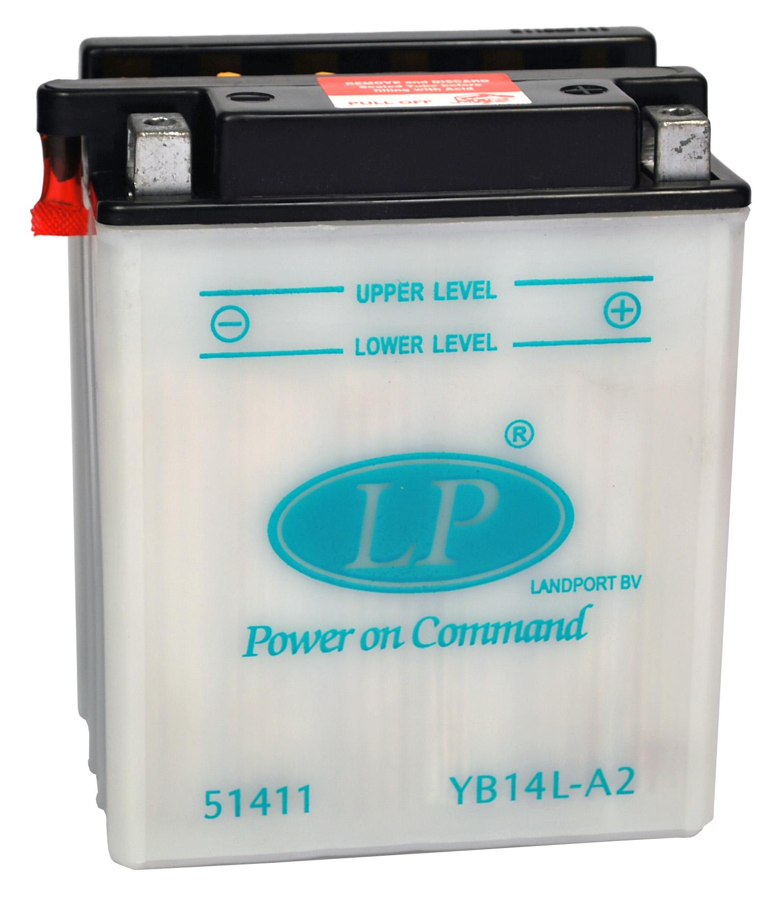 YB14L-A2 motor accu met zuurpakket