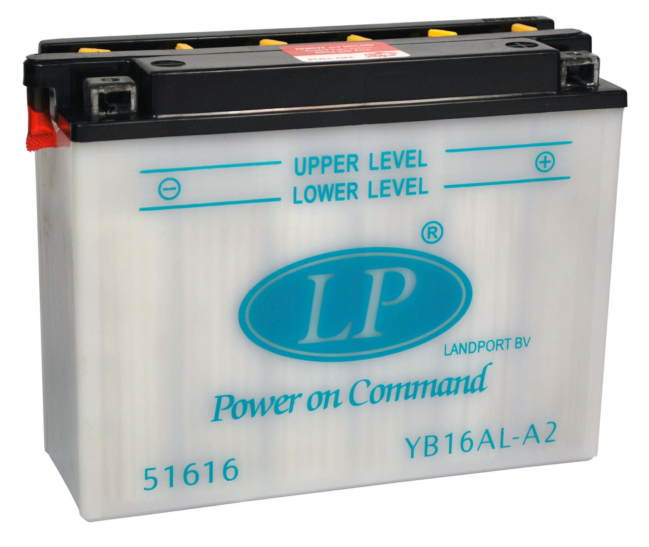 YB16AL-A2 motor accu met zuurpakket
