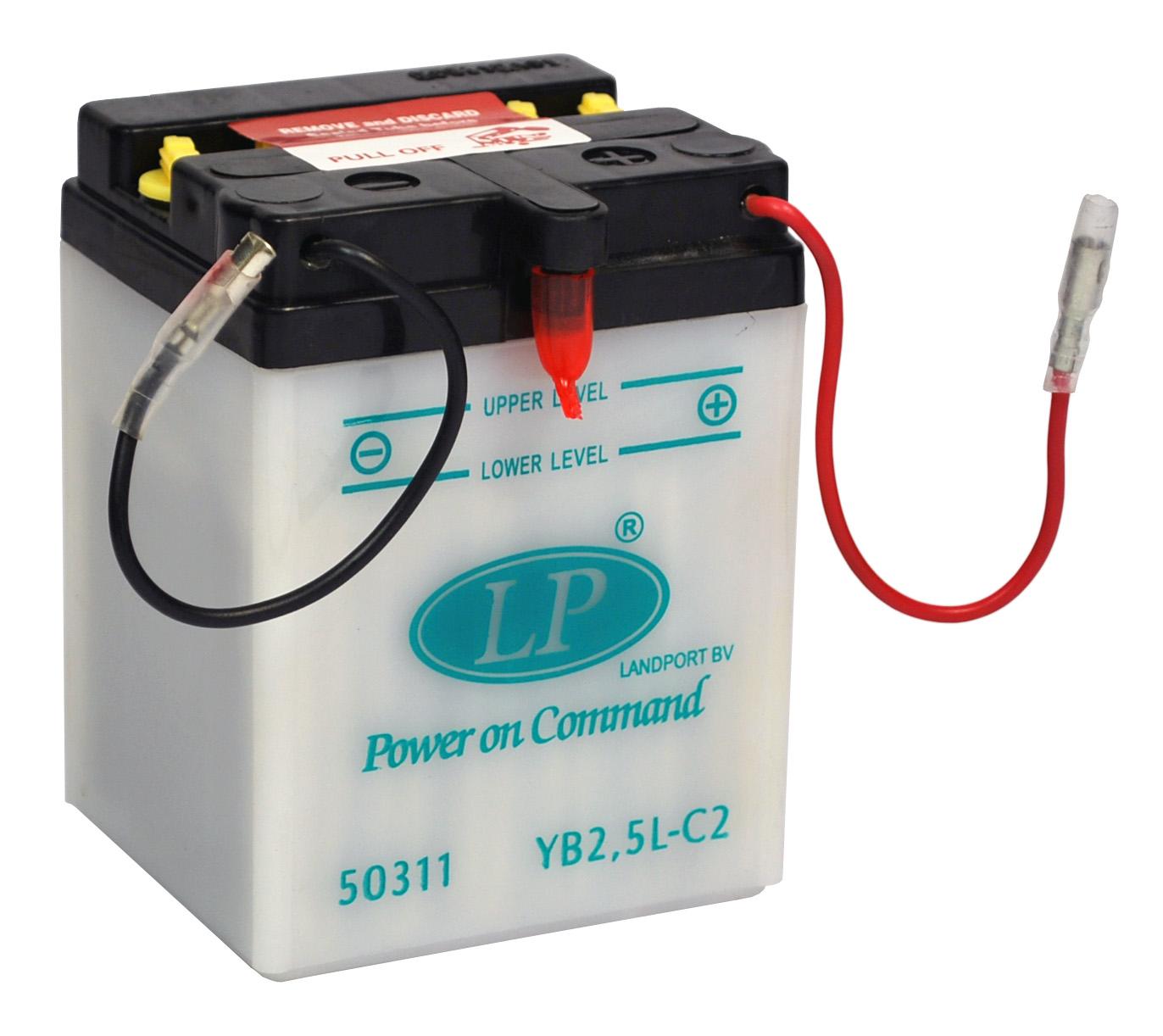 YB2,5L-C2 motor accu met zuurpakket