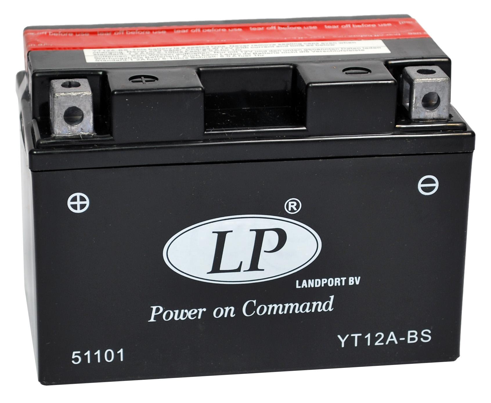 YT12A-BS motor accu met zuurpakket