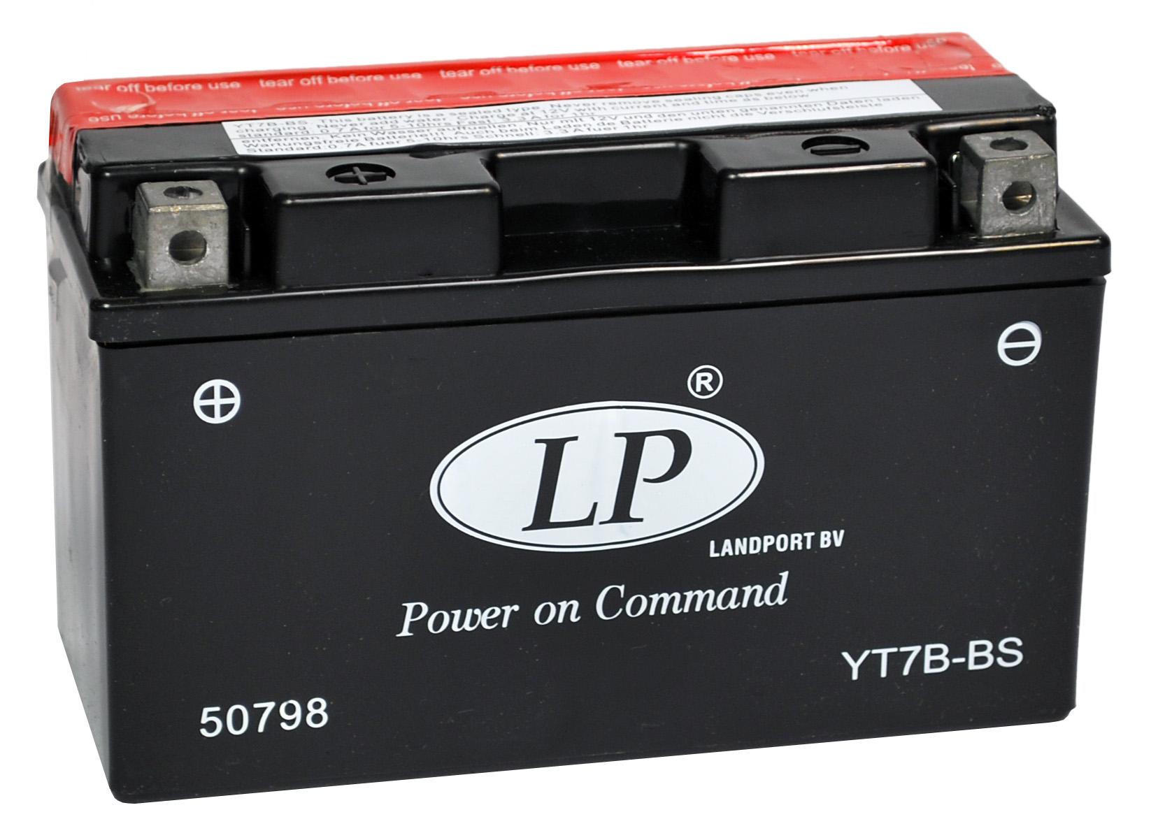 YT7B-BS motor accu met zuurpakket