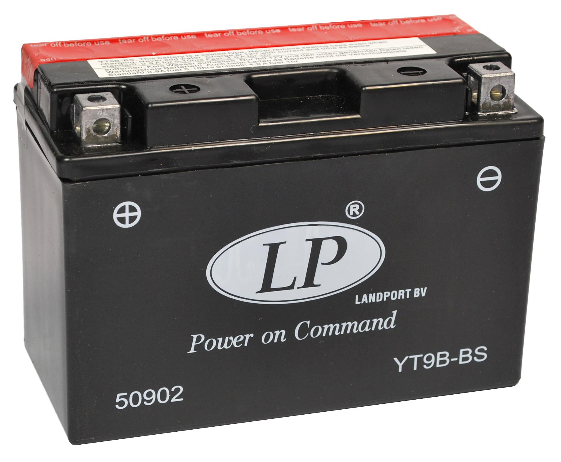 YT9B-BS motor accu met zuurpakket