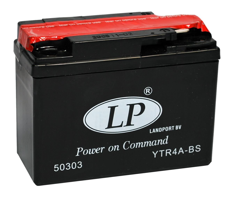 YTR4A-BS motor accu met zuurpakket