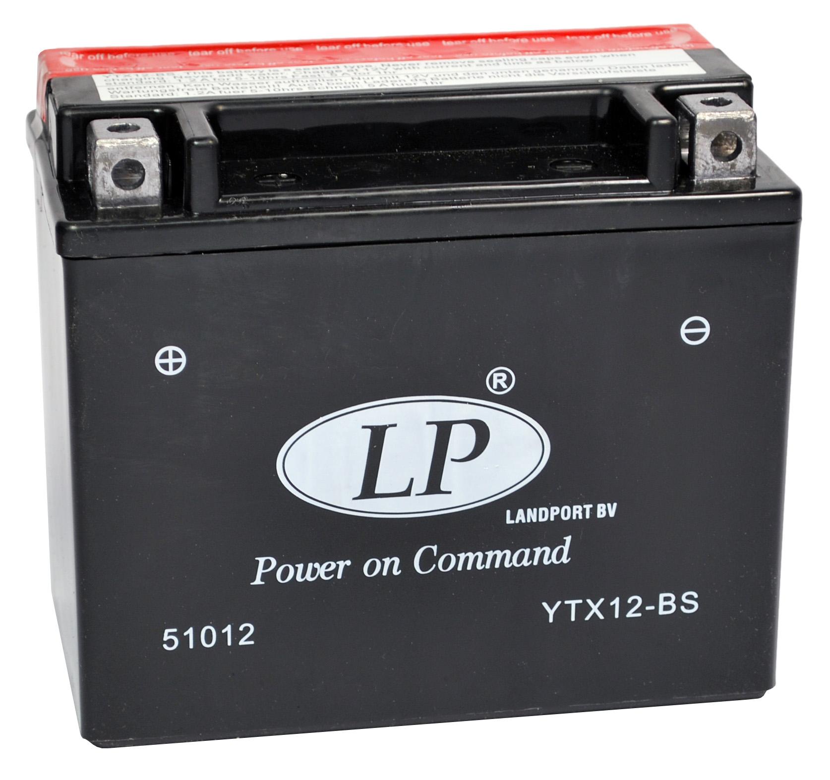 YTX12-BS motor accu met zuurpakket
