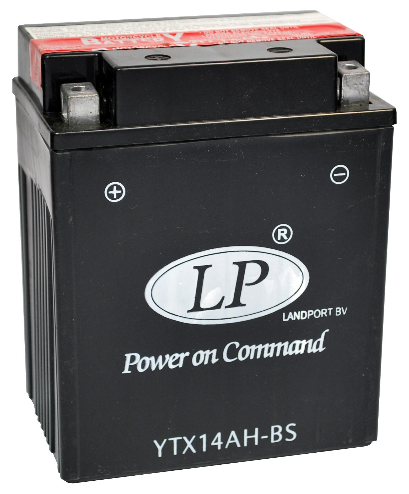 YTX14AH-BS motor accu met zuurpakket