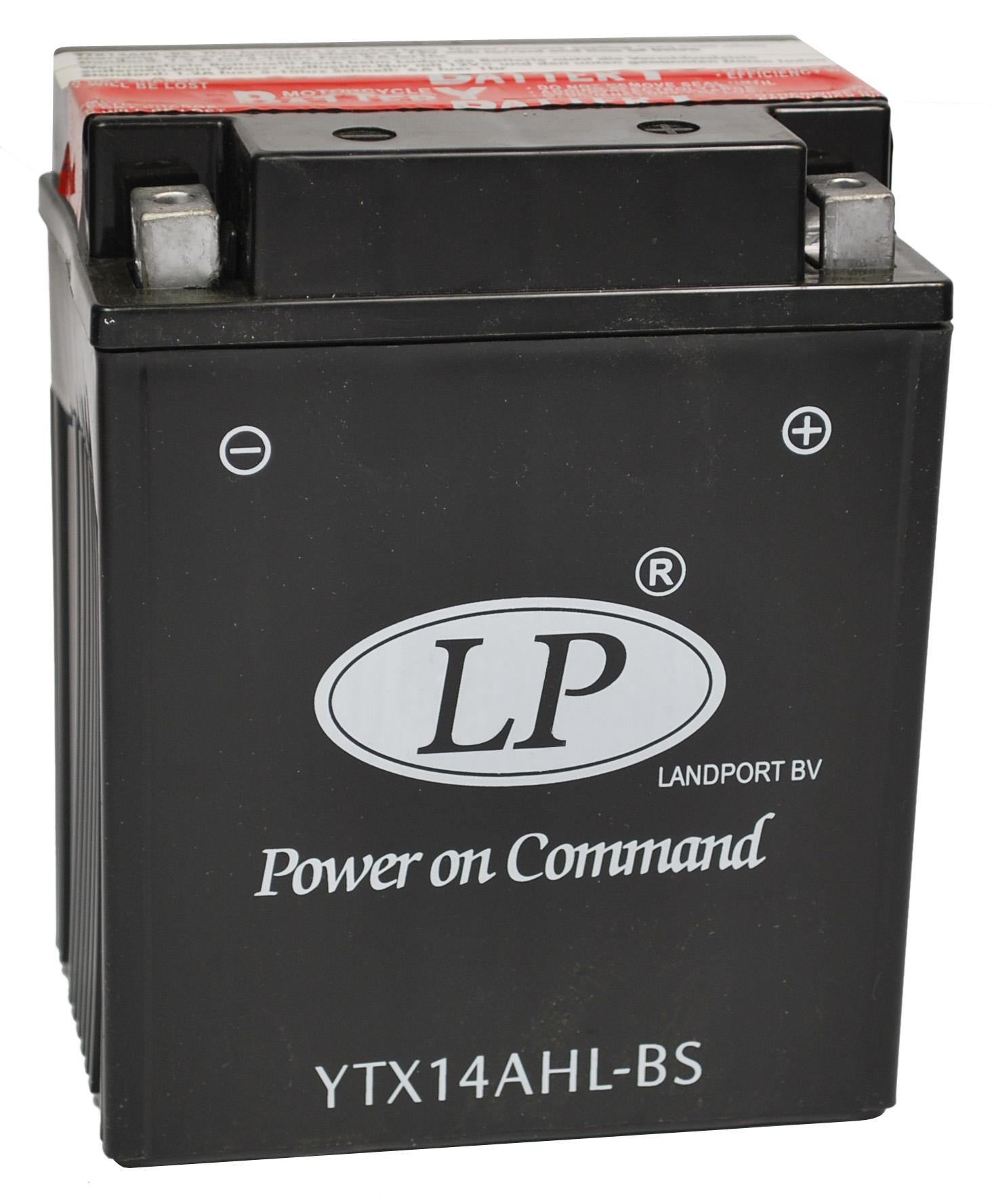 YTX14AHL-BS motor accu met zuurpakket