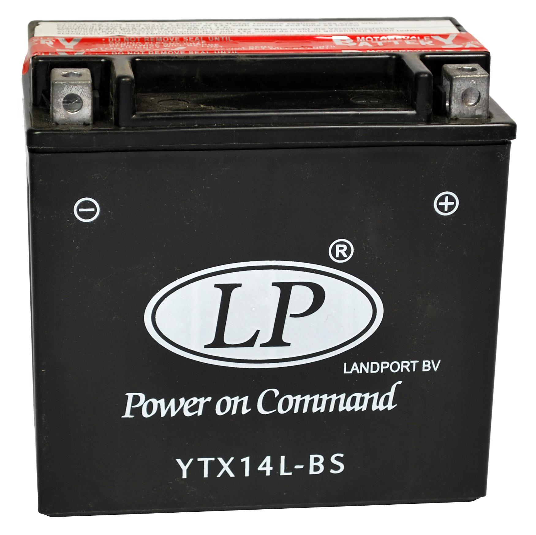 YTX14L-BS motor accu met zuurpakket