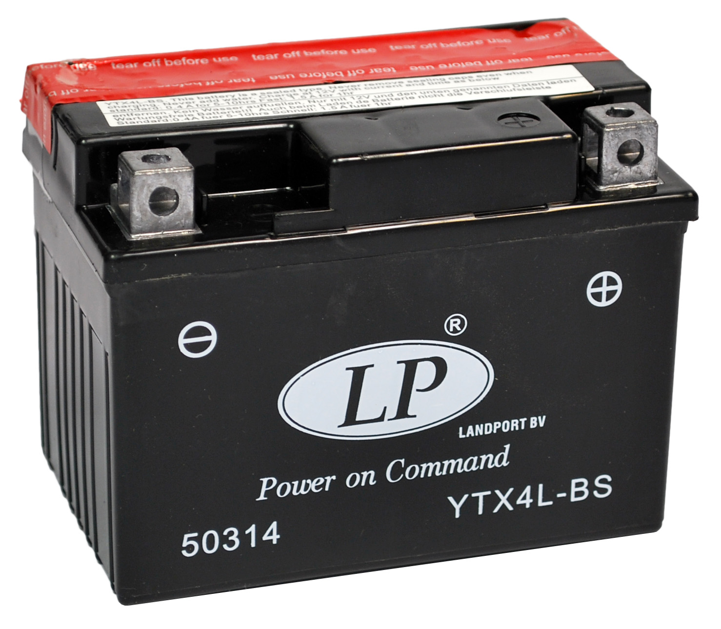 YTX4L-BS motor accu met zuurpakket