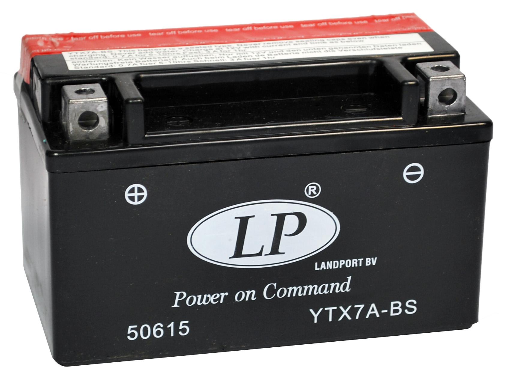 YTX7A-BS motor accu met zuurpakket