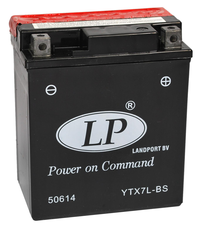 YTX7L-BS motor accu met zuurpakket